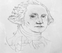 Amazing!!!!!   George Washington drawing by Michael Jackson