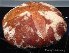 Resultado del #pan  #bread #masamadre mañana veremos qué tal...