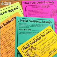 Parent conferences can sometimes be a stressful time for both teachers and parents. I've compiled my top 3 tips to help your conferences go smoothly this year! Parent Teacher Conference Forms, Parent Teacher Conferences, Teacher Notes, Teacher Tips, Teacher Stuff, Teacher Resources, First Year Teachers, Parents As Teachers, Parenting Plan