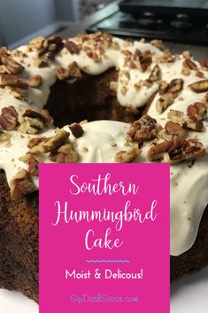 Classic Southern Hummingbird Cake recipe