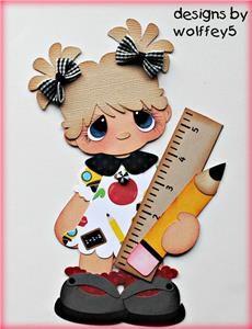 GIRL SCHOOL paper piecing premade scrapbook page die cut album School Scrapbook, Kids Scrapbook, Scrapbooking Layouts, Scrapbook Paper, Foam Crafts, Paper Crafts, Merian, Decorate Notebook, Felt Baby