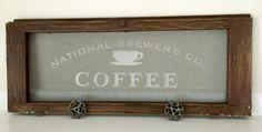 Vintage Screen Stenciled Coffee Sign www.homeroad.net