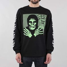 2539e004701c OBEY X Misfits Fiend Club Halloween Long Sleeve T-shirt. Skull Logo ...