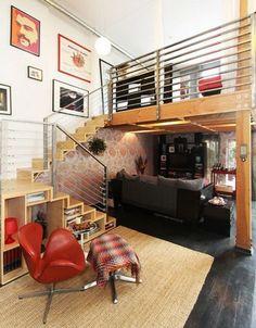 Un bello loft con una decoración impactante donde se juega mucho con la combinación de colores y estilos para lograr un mavarilloso lugar. Ven ...