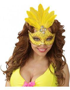 Masque Loup Jaune Brésil: 4€90 Mardi Gras Mask Template, Masquerade Mask Template, Theme Carnaval, Make Carnaval, Masquerade Ball Party, Halloween Masquerade, Owl Centerpieces, Diy Carnival, Thinking Day