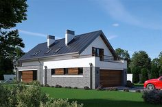 Projekt domu Fiodor G2 133,7 m2 - koszt budowy - EXTRADOM Building Drawing, Good House, Modern Exterior, Interior Styling, Planer, Interior Architecture, House Plans, Villa, Outdoor Structures