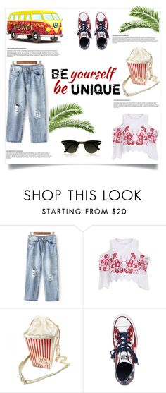 """""""Be yourself be unique"""" by jasmina-fazlic ❤ liked on Polyvore featuring Pippa and Converse"""