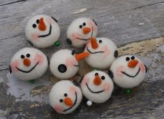 these are very cute! needle / wet felted ornaments