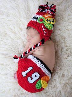 It looks like she is going to be a lifetime #Blackhawksfan! #Sleep #Lifetime