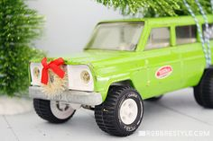 Holiday Trimmings: Vintage Toy Trucks