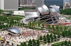 Millenium Park Chicago is as green as it gets in an urban area.