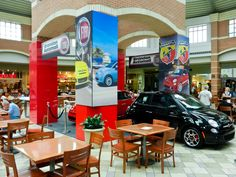 Fiat Piazza In-Mall Experience – The Italian piazza is the center of public life - an open public square with a caffe to one side. One of the joys when visiting Italy is to spend time doing nothing at all while at a caffe located in an historic piazza - just enjoying the space and people watching.    FIAT Piazza captures that experience and delivers it to Brandon for all to enjoy!