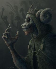The Lich by RovingNeophyte on DeviantArt – Adventure time Arte Horror, Horror Art, Dark Fantasy Art, Fantasy Creatures, Mythical Creatures, Character Inspiration, Character Art, Dark Artwork, Arte Obscura