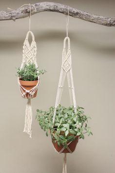 #Macrame #Plant Hanger  Set of 2 by #fallandFOUND on Etsy