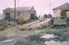 """Robert Wade """"Maine, Port Clyde Greys"""" 15""""x 20"""" 1996"""