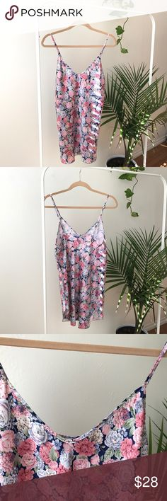 "FLORAL/ Vintage Nightie Coming soon. NOT by BM. please Read my"" meet the posher"" for size reference. Thanks! Brandy Melville Intimates & Sleepwear Chemises & Slips"