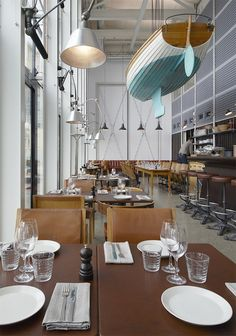 Designed and lovingly outfitted with repurposed, antique and retro furnishings and materials by architect Mats Fahlander and architect-designer Agneta Pettersson, the restaurants have already gained several prestigious Swedish awards in business, design and food categories.