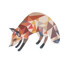 trifox . print by twamies on Etsy, $12.00