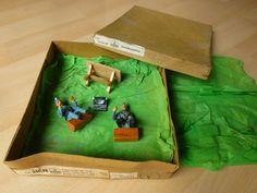 2 Hausser Elastolin Soldaten Lagerleben mit Schreibmaschine mit Orginalkarton | eBay