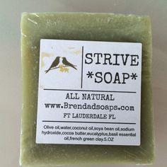 SOAP STRIVE by BrendaDsoap on Etsy