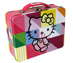 ce5ec350ea Hello Kitty Colors Embossed Carry All Tin Lunch Box by Taylor Made Events  For You Keep chic with Hello Kitty! Sanrio s adorable Hello Kitty helps  carry your ...