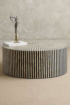 Anthropologie - Rounded Inlay Coffee Table