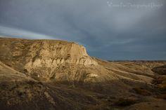 Badlands and rolling hills near the South Saskatchewan River.