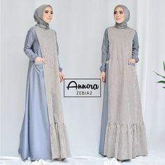 Image may contain: 2 people Batik Fashion, Abaya Fashion, Fashion Dresses, Simple Long Dress, Muslim Long Dress, Moslem Fashion, Hijab Style Dress, Modele Hijab, Muslim Women Fashion