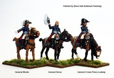 BAV 1 High Command mounted (Wrede, Deroy, Crown Prince Ludwig, Perry Miniatures