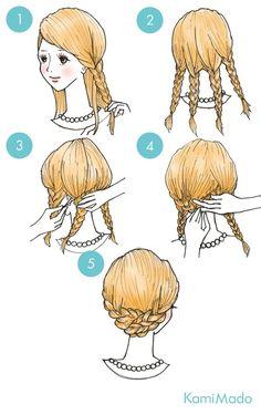 簡単!ロングでも三つ編みでショートヘアにイメチェン!【イラスト付き】