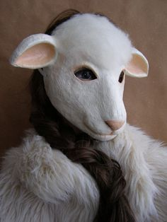 Image result for paper mache sheep mask