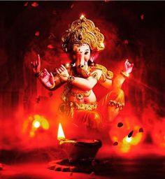 Make this Ganesha Chathurthi 2020 special with rituals and ceremonies. Lord Ganesha is a powerful god that removes Hurdles, grants Wealth, Knowledge & Wisdom. Ganesh Lord, Jai Ganesh, Ganesh Idol, Shree Ganesh, Ganesha Art, Baby Ganesha, Shri Hanuman, Baby Krishna, Shri Ganesh Images