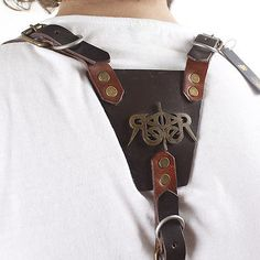 Mens-Leather-Suspenders-Y-Back-Vintage-Trouser-Braces-Adjustable-Handmade-827