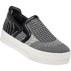47cc46a5377 ASH Jeday Black Marble Knit Sneaker ( 185) ❤ liked on Polyvore featuring  shoes