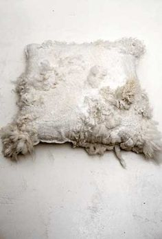2 felted pillows 'sheepscape' reserved for naomy by dellalana
