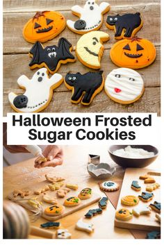 Easy Cute Halloween Frosted Sugar Cookies Recipe