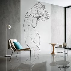 NUDES is our special collection of minimalistic drawings inspired by the beauty of women's body Woman Body Sketch, Woman Drawing, Life Drawing, Figure Drawing, Body Sketches, Art Drawings Sketches, Cool Pencil Drawings, Wall Art Designs, Diy Art