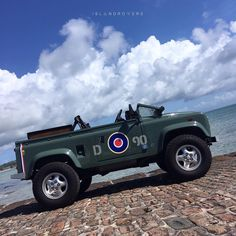 """998 Likes, 22 Comments - I S L △ N D R O ▽ E R S (@islandrovers) on Instagram: """"Come fly with me! #squadronleader #gnarlyrover #v8 #spitfire #landrover #defender…"""""""