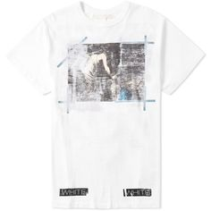 Off-White Caravaggio Annunciation Tee ($200) ❤ liked on Polyvore featuring men's fashion, men's clothing, men's shirts and men's t-shirts