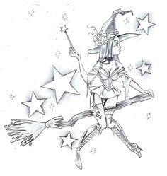 Witch Star Tattoo Design by *2Face-Tattoo on deviantART