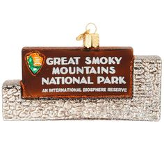 Great Smoky Mountains National Park Glass Ornament $16.99