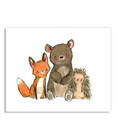 Another great find on #zulily! Woodsie Friends Print by trafalgar's square #zulilyfinds