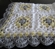 Diy Crafts - Whether youre cradling your own little one or looking for the perfect shower gift, this soft baby open design granny square afghan is a m Granny Square Blanket, Granny Square Crochet Pattern, Crochet Blanket Patterns, Crochet Granny, Baby Blanket Crochet, Diy Crochet, Crochet Stitches, Crochet Baby, Afghan Crochet
