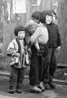 Vintage Photo Japan Children
