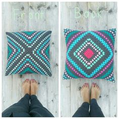 Crochet pillow granny square