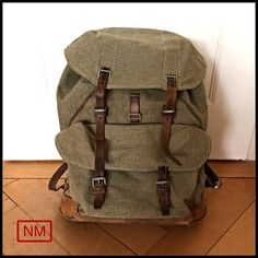 Vintage Swiss Army Backpack   Rucksack of the by NaturaMachinata, $102.00