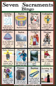 Seven Sacraments Bingo