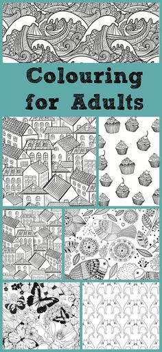 These coloring books are great for adults as well as kids who love detailed coloring pages.