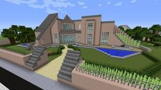 Minecraft Gaming Xbox PC House Home Creative Mode Mojang Barn Modern House  Bungalow Upside Down MinecraftHome MinecraftHouse PhillipStewartDesign ...