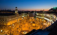 Plaza de la Puerta del Sol. Madrid. España.